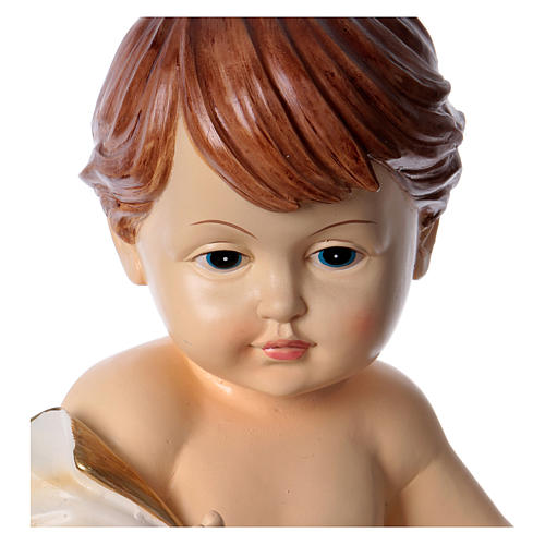 Gesù bambino con drappo h 30 cm 2