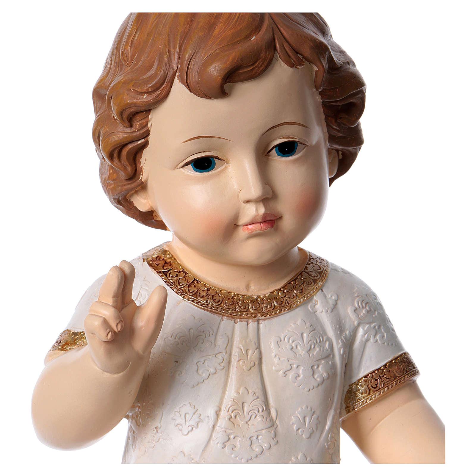 Niño Jesús bendiciendo con vestido decorado h 30 cm 3