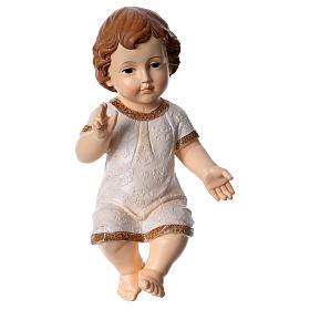 Niño Jesús bendiciendo con vestido decorado h 30 cm s1