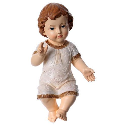 Niño Jesús bendiciendo con vestido decorado h 30 cm 1