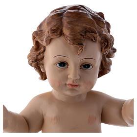 Santon Enfant Jésus en résine 32 cm h réelle s2