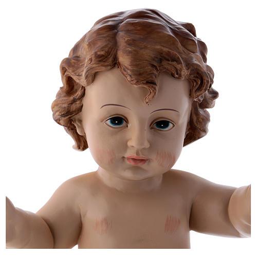 Santon Enfant Jésus en résine 32 cm h réelle 2