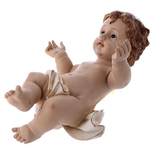 Santon Enfant Jésus en résine 32 cm h réelle 3