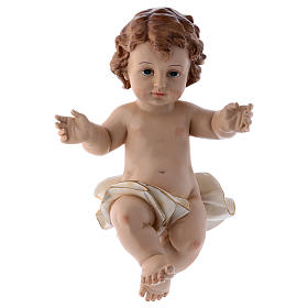 Resin baby Jesus statue, actual size 32 cm long s1