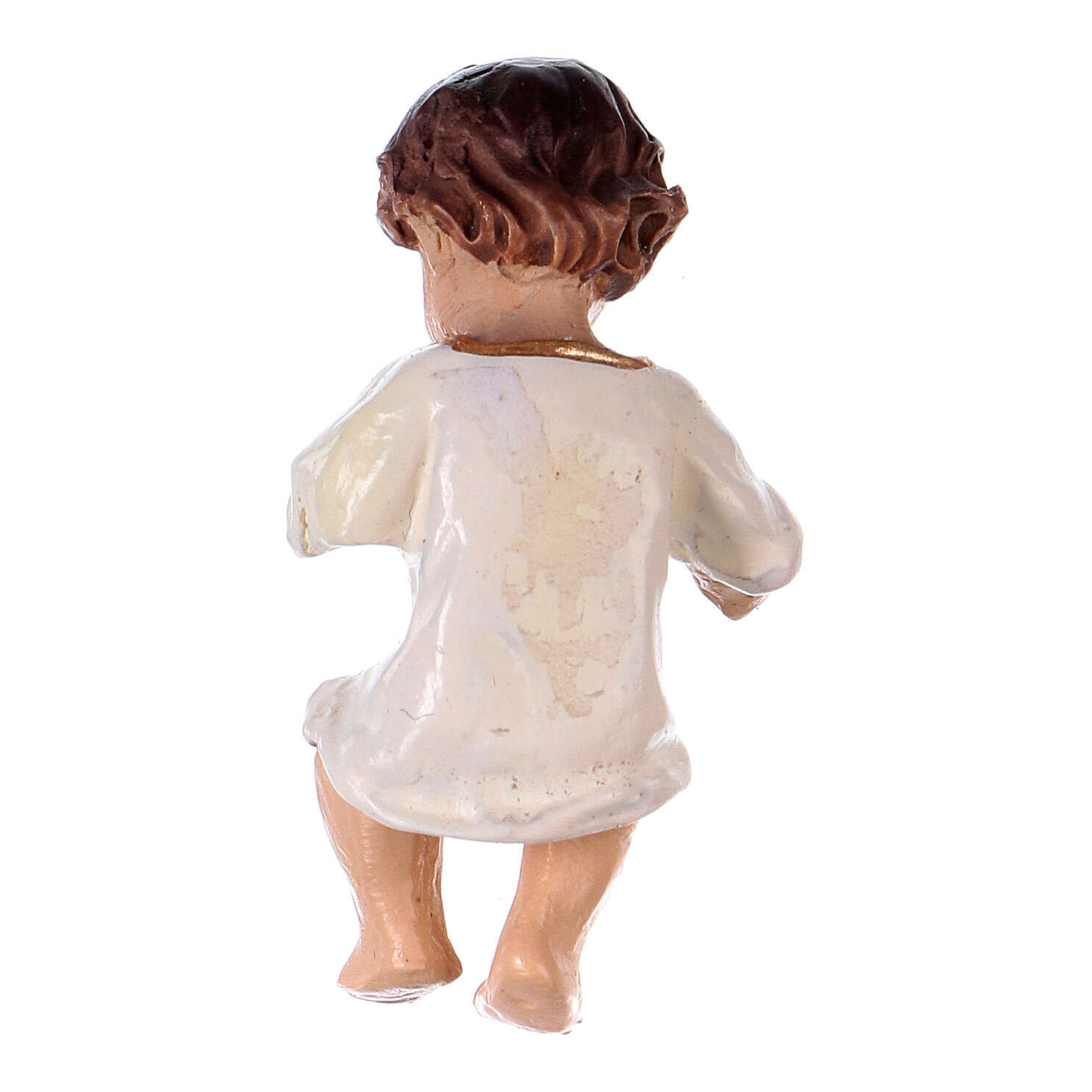 Baby Jesus with a White Dress in resin real h 4.5 cm 3