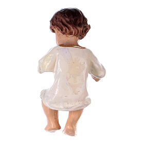 Baby Jesus with a White Dress in resin real h 4.5 cm s2