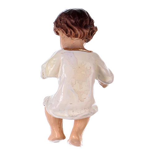 Statua bambinello in vesti bianche h reale 4,5 cm resina 2