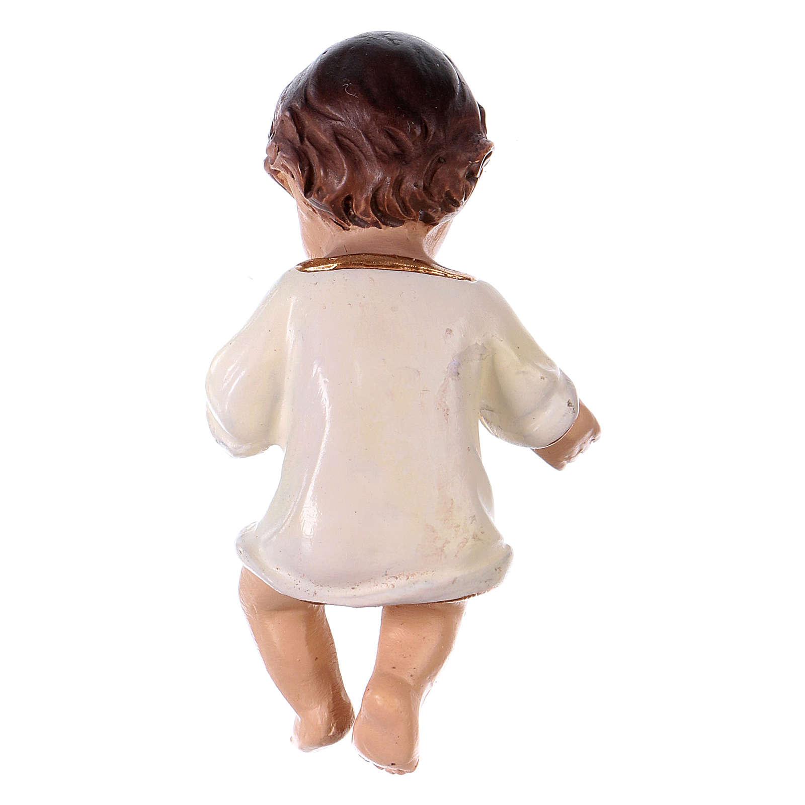 Gesù bambino h reale 6,5 cm resina 3