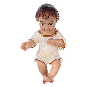 Gesù bambino h reale 6,5 cm resina s1