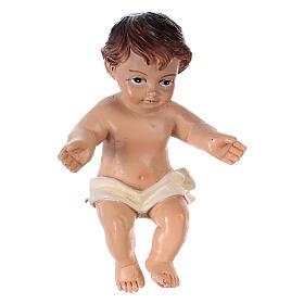 Statua Gesù bambino h reale 6,5 cm resina s1