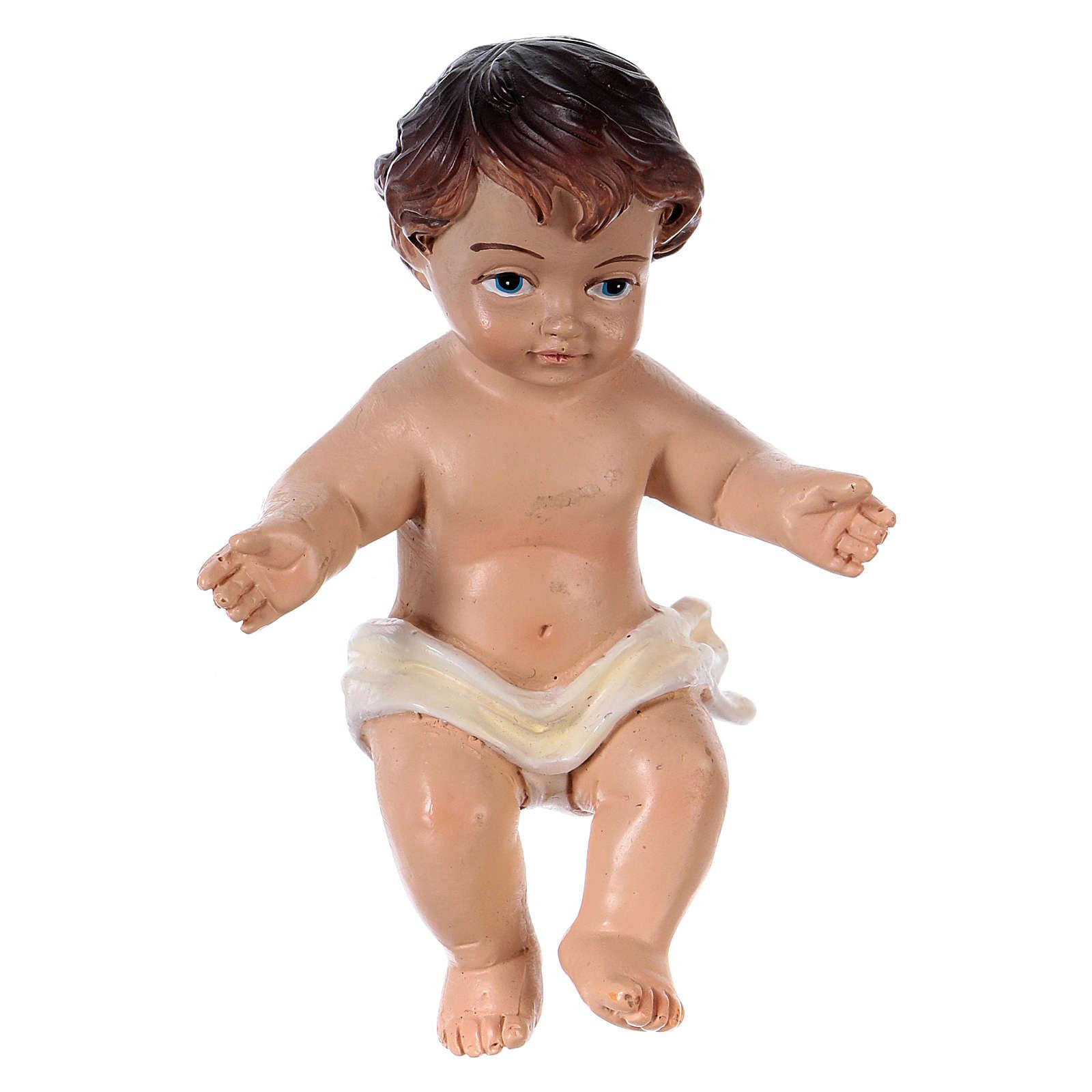Statua Bambinello h reale 8,5 cm resina 3