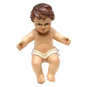 Gesù bambino statuina h reale 16 cm resina s1