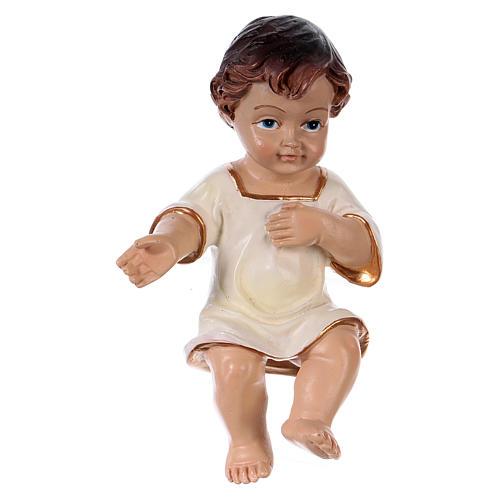 Bambinello veste bianca h reale 10,5 cm resina 1