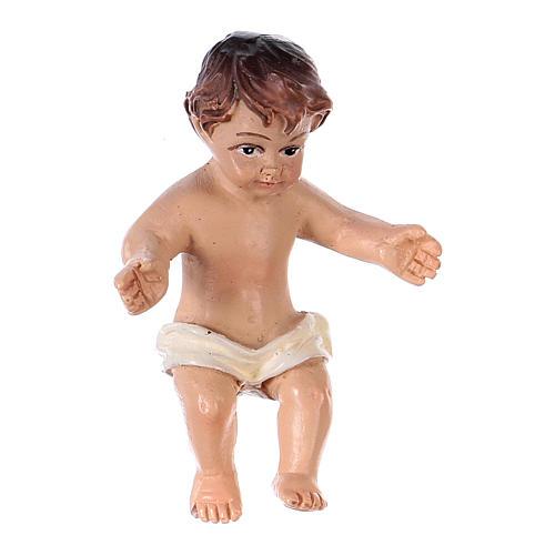 Gesù bambino resina h reale 4,5 cm resina 1