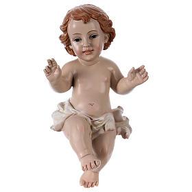 Statua Bambinello h reale 21 cm resina s1