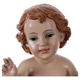Statua Bambinello h reale 21 cm resina s2