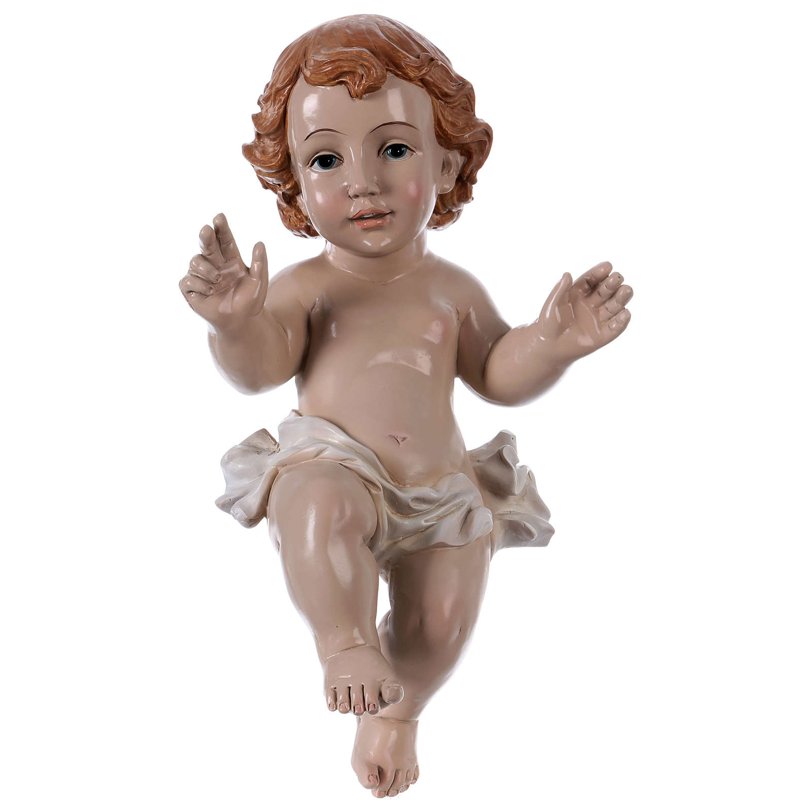 Gesù Bambino h reale 30 cm resina 3