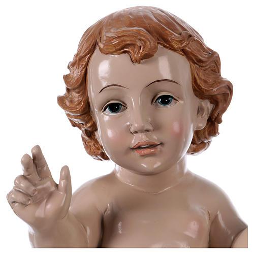 Gesù Bambino h reale 30 cm resina 2