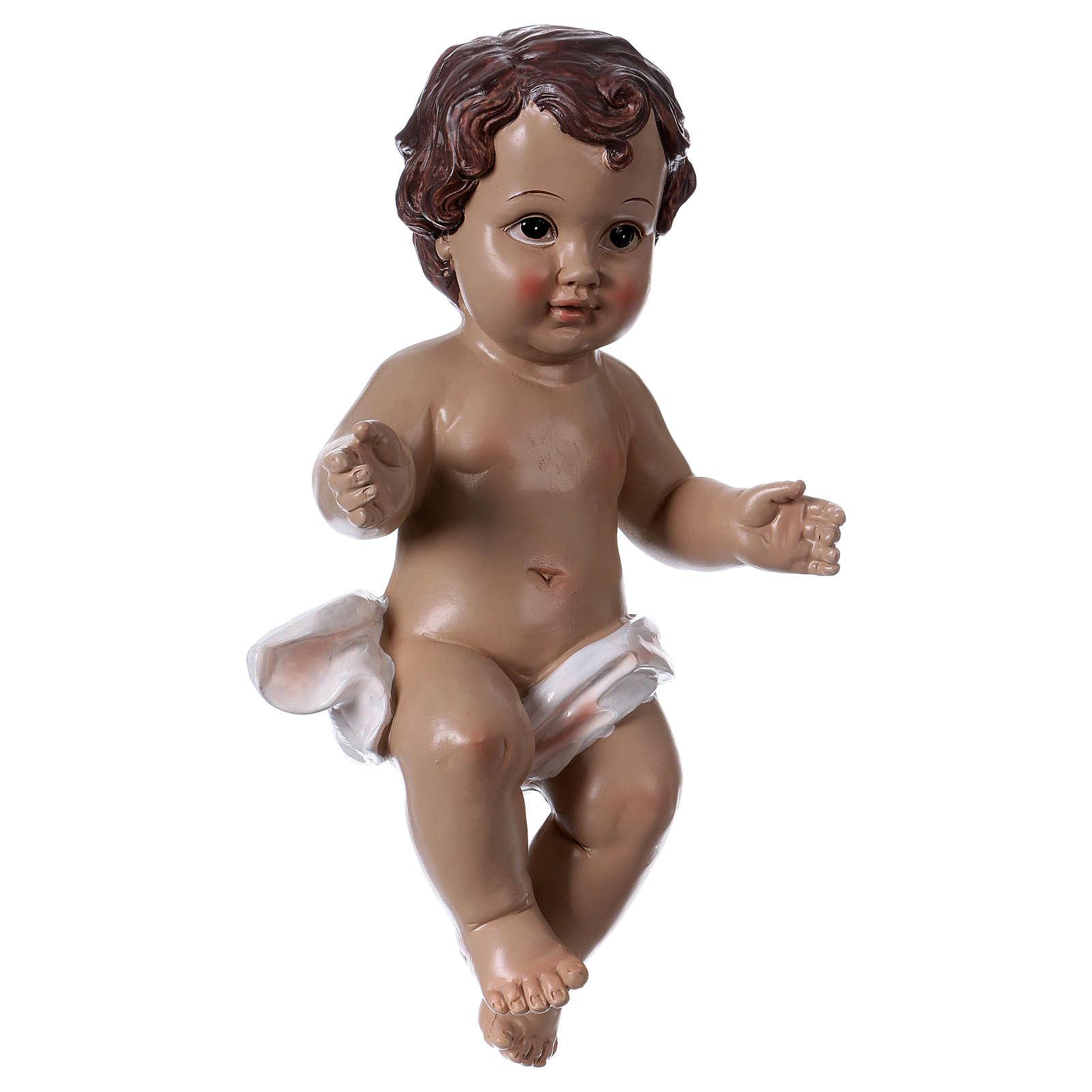 Baby Jesus statue in resin 30 cm 3