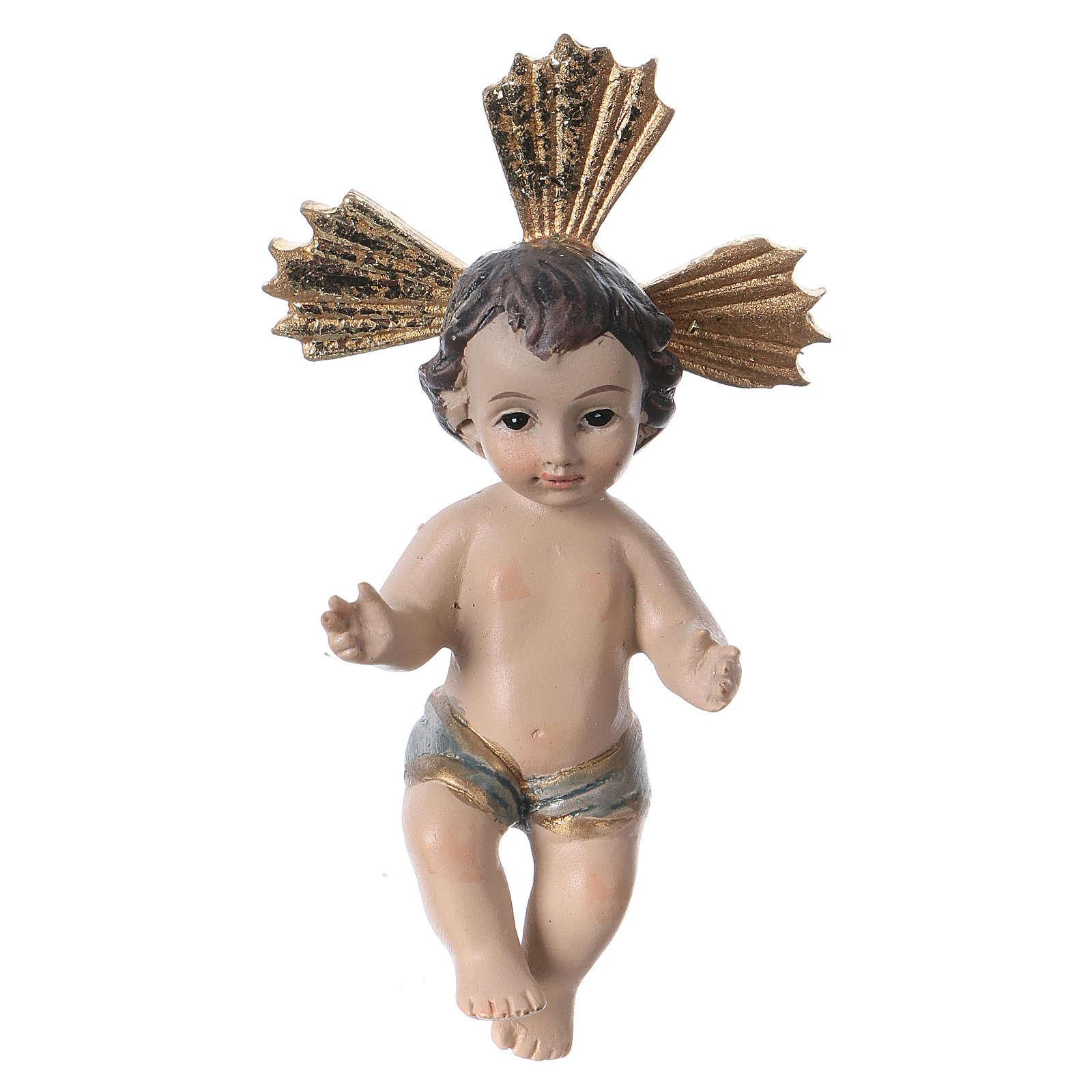 Niño Jesús con corona de rayos resina 7 cm 3