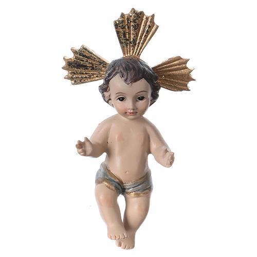 Niño Jesús con corona de rayos resina 7 cm 1