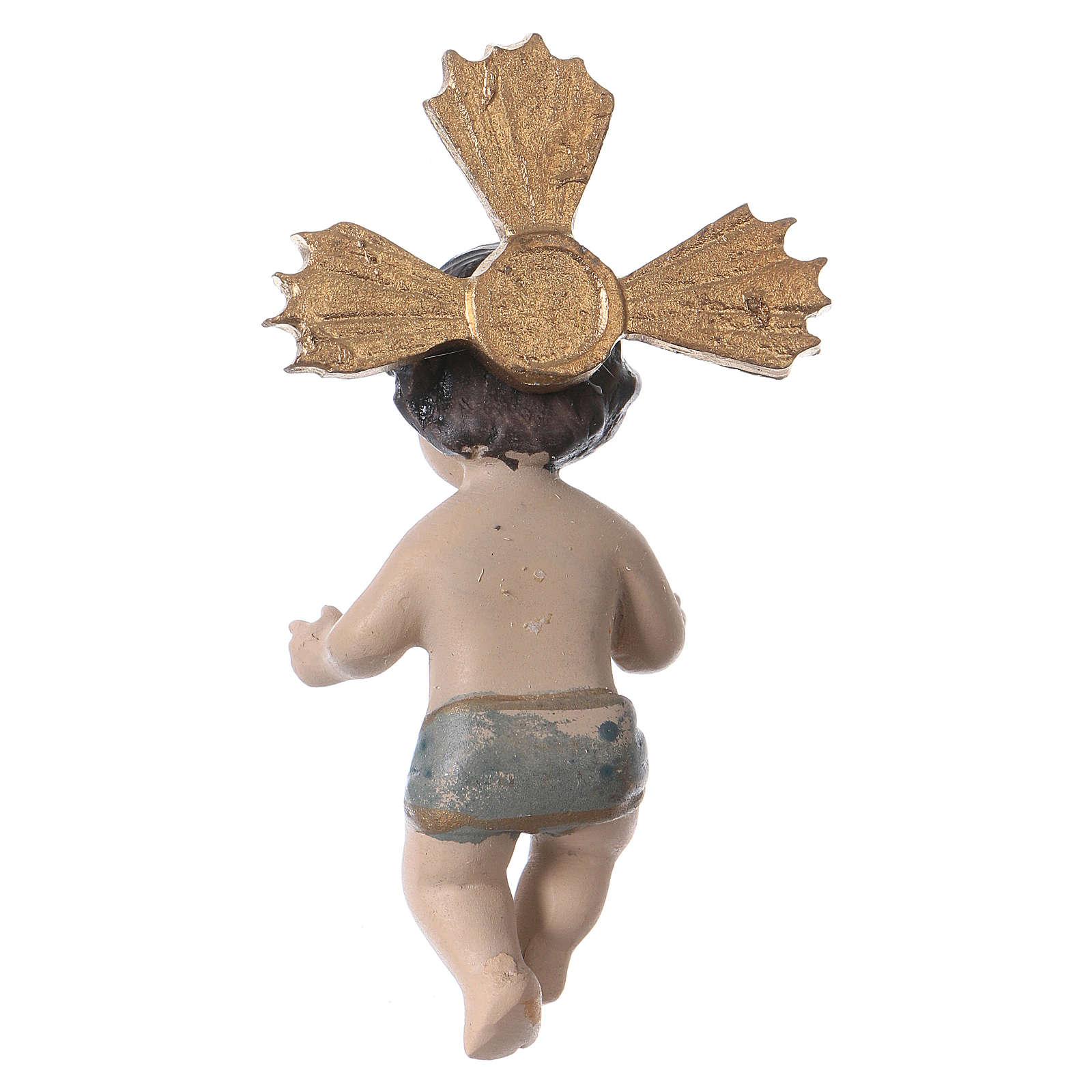 Enfant Jésus avec rayons résine 7 cm 3