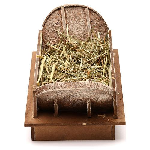 Cuna de madera y pajizo belén 20 cm 1