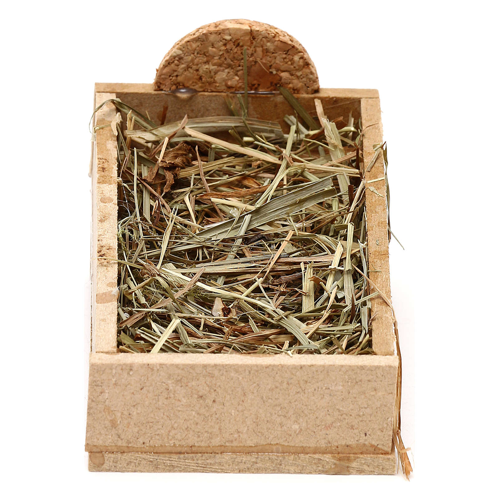 Manger in wood and straw, for 10 cm nativity 3