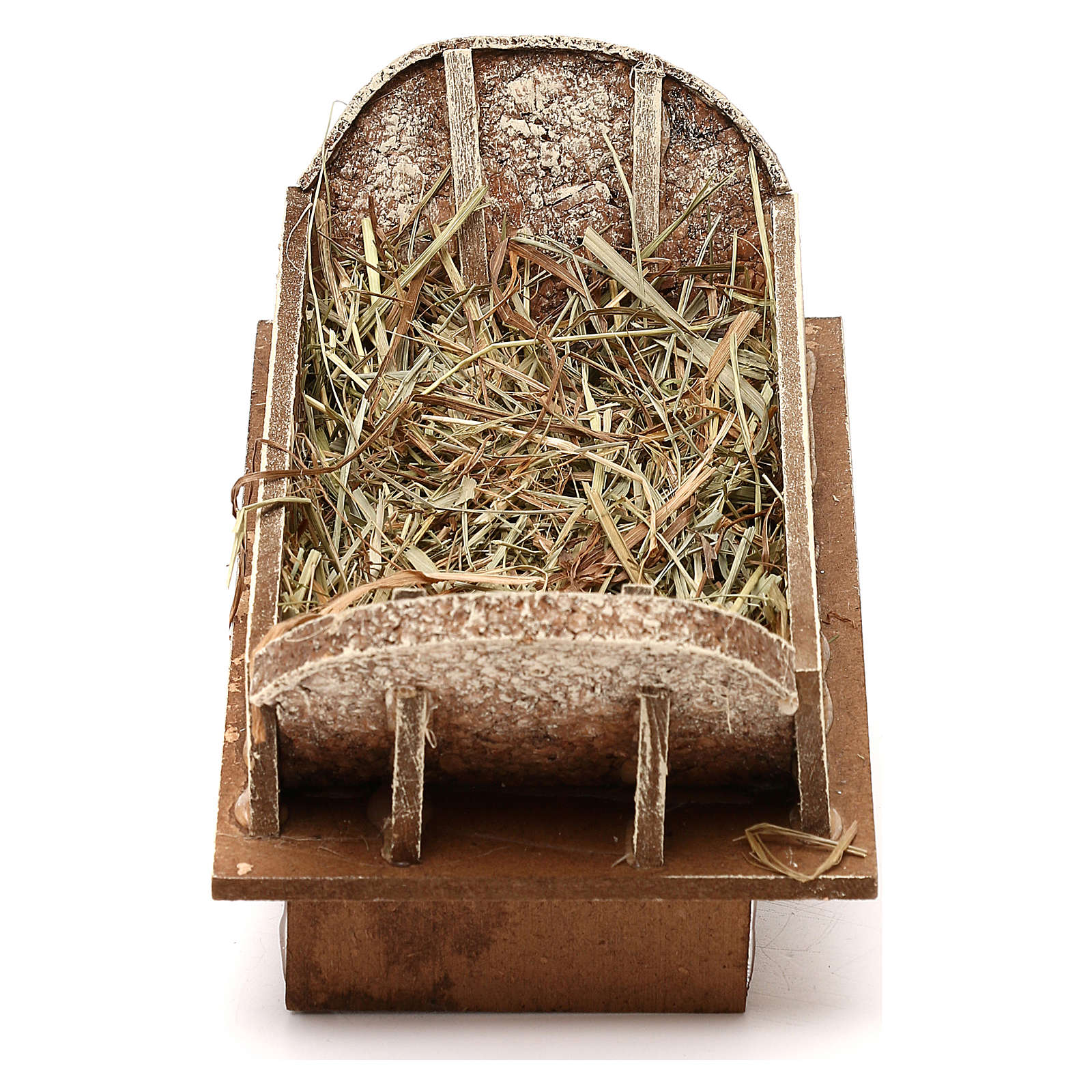 Cradle made of wood and straw for Nativity Scene 16-18 cm 3
