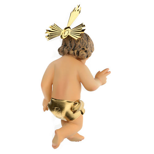 Baby Jesus in wood paste, 20 cm elegant finish 4