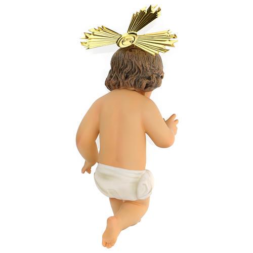 Baby Jesus in wood paste, 30 cm elegant finish 4
