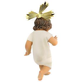 Bambinello statua pasta legno veste panna 35 cm dec. elegante s4