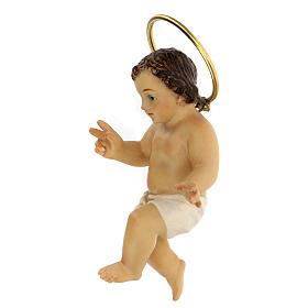 STOCK Enfant Jésus bénissant bois pagne blanc 10 cm déc. Élegante s4