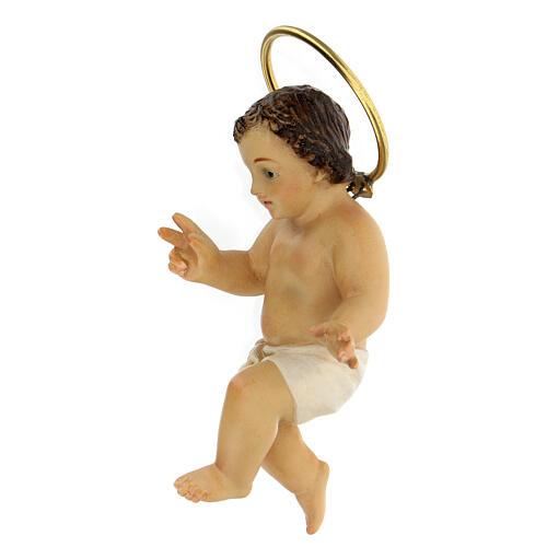 STOCK Enfant Jésus bénissant bois pagne blanc 10 cm déc. Élegante 4
