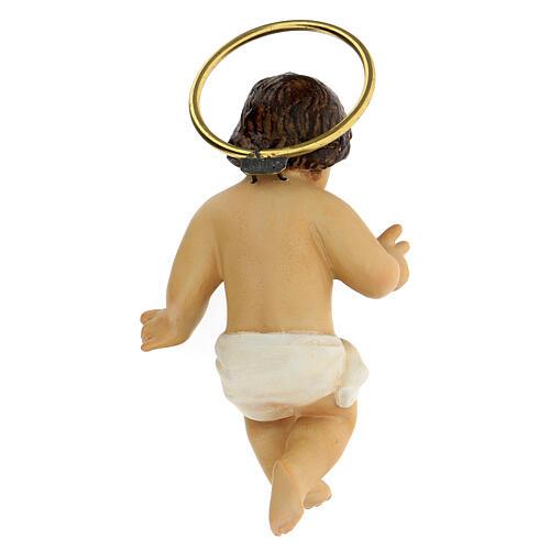STOCK Gesù Bambino legno benedicente veste bianca 10 cm dec. Elegante 5