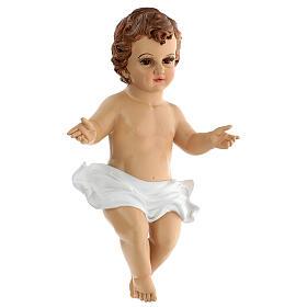 Gesù Bambino occhi vetro resina 45 cm presepe 150 cm s2
