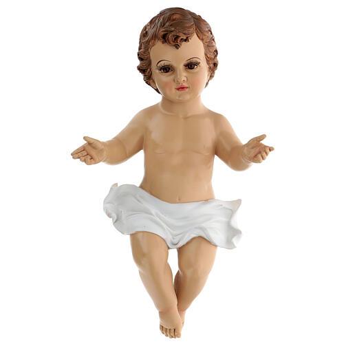 Gesù Bambino occhi vetro resina 45 cm presepe 150 cm 1