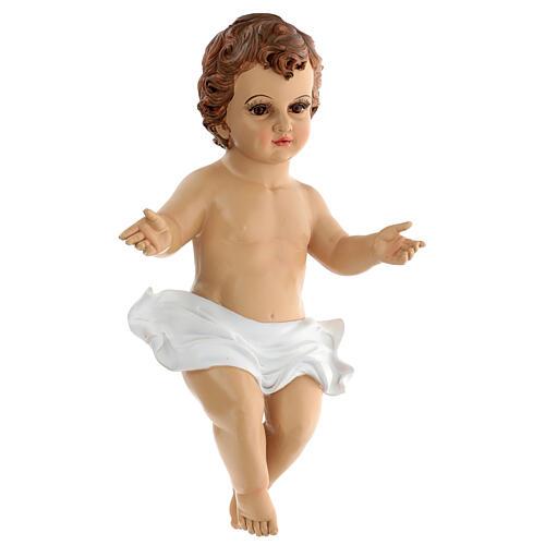 Gesù Bambino occhi vetro resina 45 cm presepe 150 cm 2