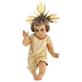 Statua Gesù Bambino presepe 150 cm pasta legno occhi cristallo s1