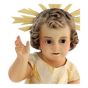 Statua Gesù Bambino presepe 150 cm pasta legno occhi cristallo s2