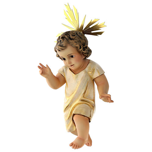 Statua Gesù Bambino presepe 150 cm pasta legno occhi cristallo 3