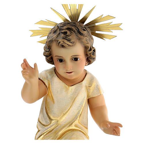 Statua Gesù Bambino presepe 150 cm pasta legno occhi cristallo 4