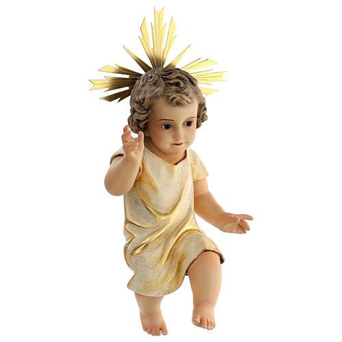 Statua Gesù Bambino presepe 150 cm pasta legno occhi cristallo 5