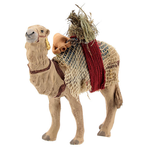 Nativity scene accessory, Camel standing up with harness 10 cm 3