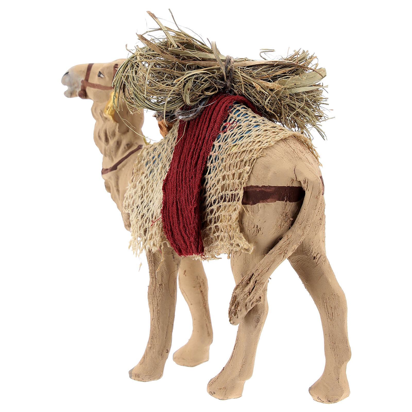 Nativity scene accessory, Camel standing up with harness 10 cm 4