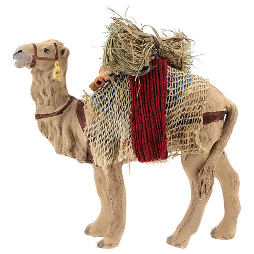 Nativity scene accessory, Camel standing up with harness 10 cm 1