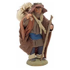 Pilgrim with bundle 10 cm for nativity scene s3
