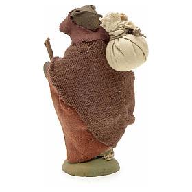 Pilgrim with bundle 10 cm for nativity scene s5