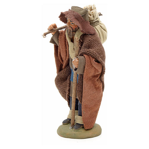 Pilgrim with bundle 10 cm for nativity scene 4
