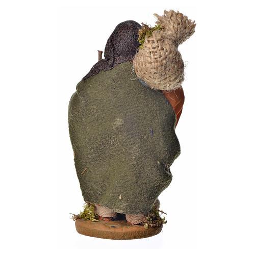 Pilgrim with bundle 10 cm for nativity scene 7